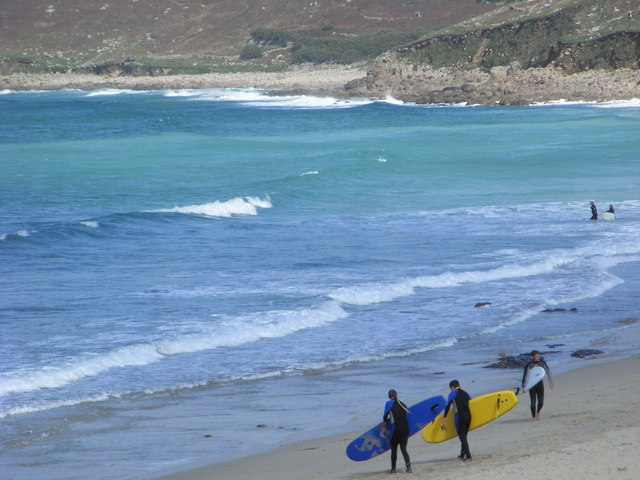Whitesand Bay in Cornwall